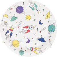 Cosmonaute paper plates - Set of 8