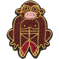 Embroidered Marmoset Brooch