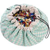 Toy storage bag/ play mat - diamond print