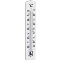 TFA Dostmann Innenthermometer Holz 18 cm altweiß