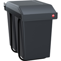 Hailo Einbau-Abfalleimer 'Multi-Box Duo L TB' 2 x 14 l grau