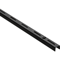 Element System Single-Wandschiene, schwarz, 14,5 cm
