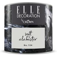ELLE Decoration by Crown Premium Wandfarbe 'Soft Alabaster No. 104' 125 ml