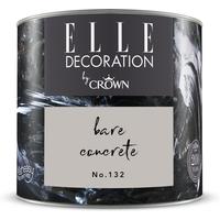 ELLE Decoration by Crown Premium Wandfarbe 'Bare Concrete No. 132' 125 ml