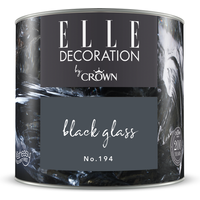 ELLE Decoration by Crown Premium Wandfarbe 'Black Glass No. 194' 125 ml