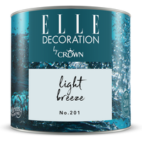 ELLE Decoration by Crown Premium Wandfarbe 'Light Breeze No. 201' 125 ml