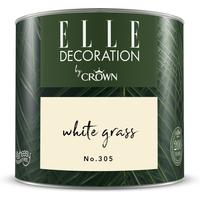 ELLE Decoration by Crown Premium Wandfarbe 'White Grass No. 305' 125 ml