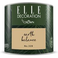 ELLE Decoration by Crown Premium Wandfarbe 'Earth Balance No. 328' 125 ml