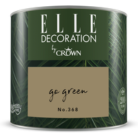 ELLE Decoration by Crown Premium Wandfarbe 'Go Green No. 368'  125 ml