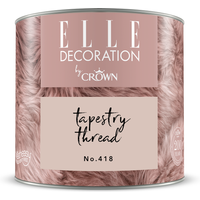 ELLE Decoration by Crown Premium Wandfarbe 'Tapestry Thread No. 418' 125 ml