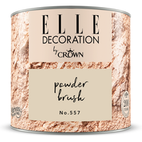 ELLE Decoration by Crown Premium Wandfarbe 'Powder Brush No. 557' 125 ml