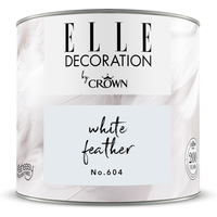 ELLE Decoration by Crown Premium Wandfarbe 'White Feather No. 604' 125 ml