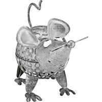 toom LED-Solarleuchte 'Maus' silbern 11,5 x 16 cm