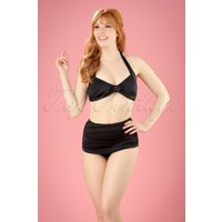 50s Classic Bikini In Solid Black