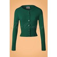50s Dolly Cardigan In Dark Green