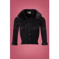50s Sapphire Cardigan In Black