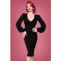 50s Bella Pencil Dress In Black