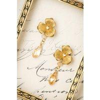 20s Honey Rose Drop Earrings In Gold