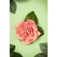 50s Garden Rose Hair Clip In Vintage Pink