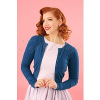50s Paloma Cardigan In Blue