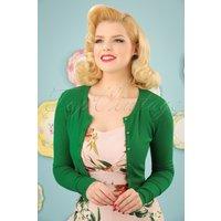 50s Paloma Cardigan In Green