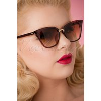 50s Flirty Jess Sunglasses In Brown