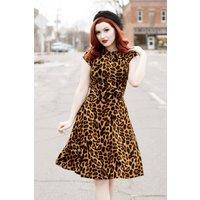 50s Bridget Bombshell Dress In Leopard