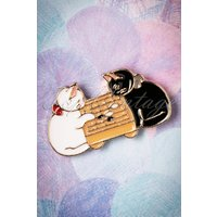 50s May The Best Cat Win Pin In Gold