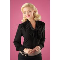 40s Madeline Blouse In Black