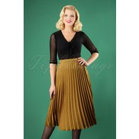 50s Carole Pleated Skirt In Gold