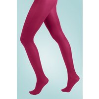 60s Opaque Tights In Cerise