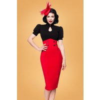 50s Andrea Pencil Skirt In Lipstick Red