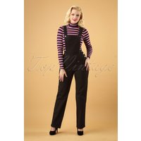40s Elly May Dungarees In Black