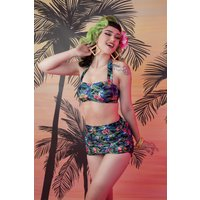 50s Jungle Skirted Bikini Brief In Multi