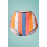 50s Sherbet Stripes Bikini Pants In Multi