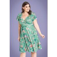 50s Midori Floral Dress In Mint
