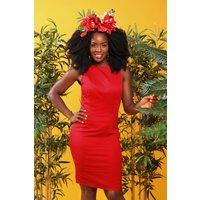 50s Felicia Pencil Dress In Lipstick Red