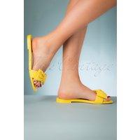 50s Sheana Slippers In Sunshine Yellow