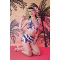 50s Lobster Skirted Bikini Brief In Multi