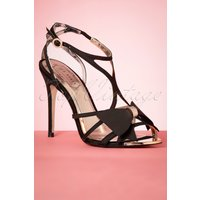 50s Arayis Strappy Bow Pumps In Black