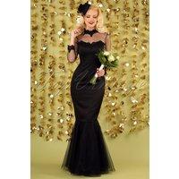 50s Lucrezia Occasion Fishtail Maxi Dress In Black