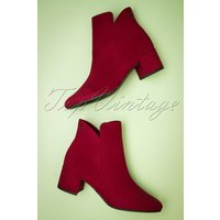 60s Megan Ankle Booties In Lipstick Red