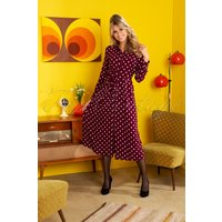 60s Rosie Polkadot Midi Dress In Windsor Red