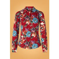 60s Bluebell Blouse In True Red