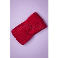 70s Lexy Knitted Headband In Red
