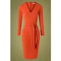 50s Chrissie Pencil Dress In Cinnamon