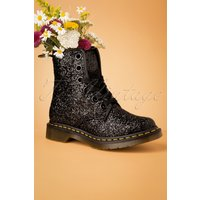1460 Farrah Chunky Glitter Ankle Boots In Black