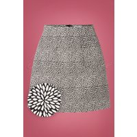 60s Jacky Jacquard Mini Skirt In Black And White