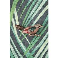 50s Beautiful Bird Brooch In Silver