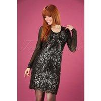 20s Lillian Sequin Dress In Black